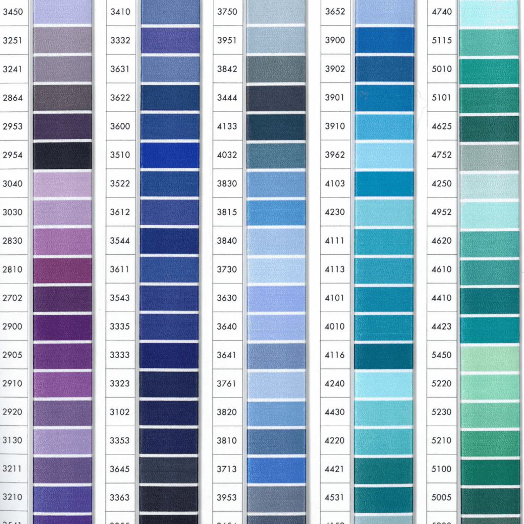 ISACORD Color Chart